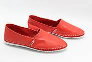 Женские кожаные мокасины Marcha 101-red, фото 2