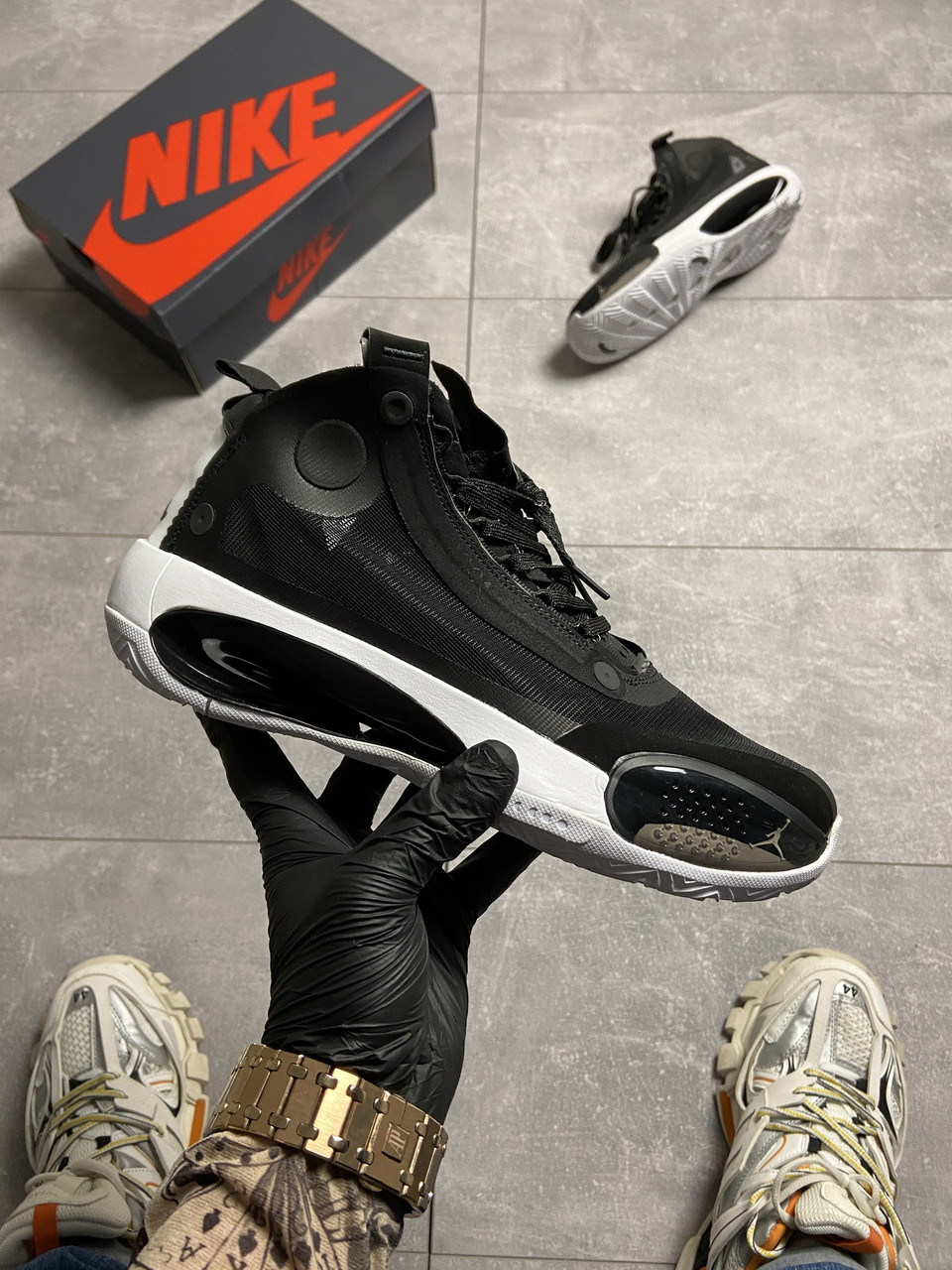 Nike Air Jordan 34 Eclipse Black (Чорний)