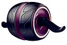 Тренажер колесо для пресса, ролик для пресса с возвратным механизмом   колесо для мышц пресса, фото 3