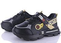 Дитячі кросівки чорні золото 31-36 M. L. W, фото 1