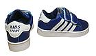 Дитячі сині кеди в стилі Adidas з гумовим носиком, р-ри 28, 34, 35, 36, фото 4