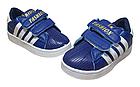 Дитячі сині кеди в стилі Adidas з гумовим носиком, р-ри 28, 34, 35, 36, фото 3