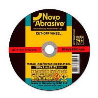 Круг отрезной по металлу NOVOABRASIVE 41 14А 115 1,0 22,23 (WM11510), фото 1