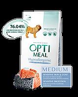 Сухий гіпоалергенний корм для собак Optimeal Dog Adult and Medium Large Hypoallergenic, 12 кг