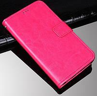 Чехол Fiji Leather для Tecno Spark 4 Lite книжка с визитницей розовый