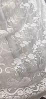 Жакардова тюль з квіткою біла., висота 2,8 ( 172 ), фото 3