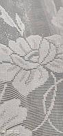 Жакардова тюль з квіткою біла., висота 2,8 ( 172 ), фото 5