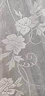 Жакардова тюль з квіткою біла., висота 2,8 ( 172 ), фото 2
