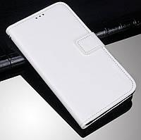 Чехол Fiji Leather для Tecno Spark 4 Lite книжка с визитницей белый