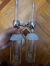 Подвійний зволожувач кисню - DIN з'єднання