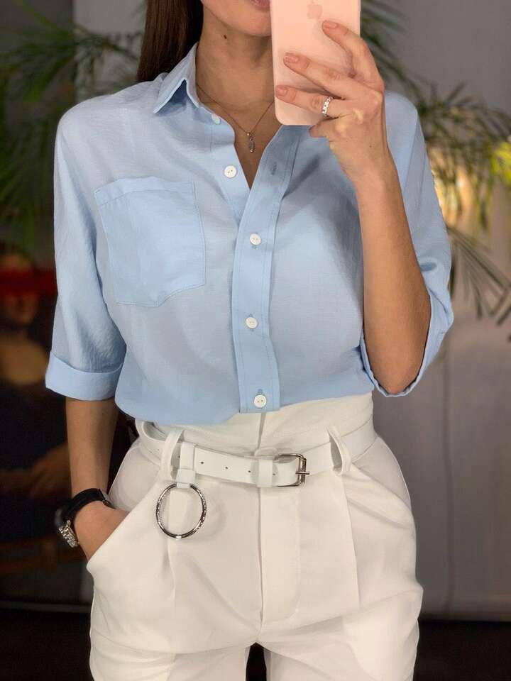 """Блуза """"Lady""""блакитна"""