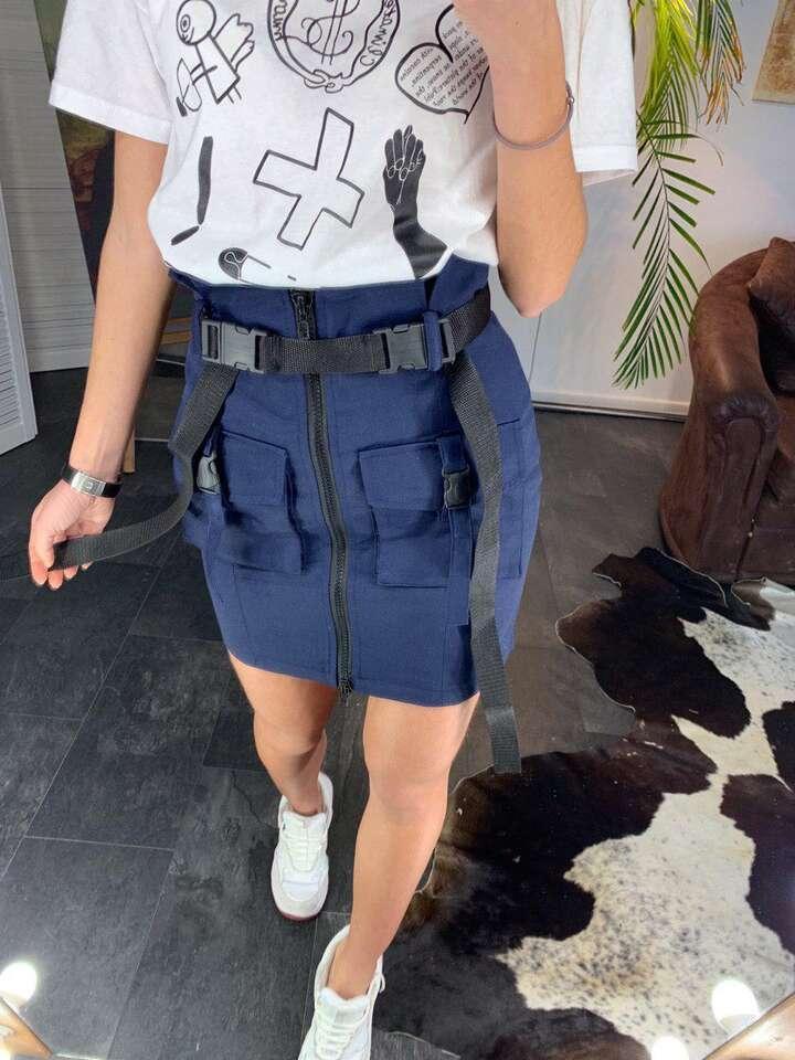 Спідниця джинс синя
