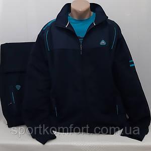 Супер-батал прогулянковий трикотажний костюм бавовна 70 Туреччина Soccer темно-синій розмір 60 62 64 66