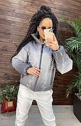 Жіноча демісезонна куртка з шкірозамінника