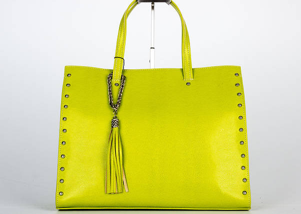 Жіноча шкіряна сумка ASSA 960м жовта, фото 2