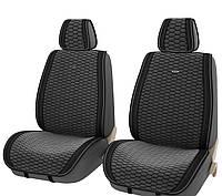 Накидка в авто Vip вельвет + экокожа на передние сидения 2 шт