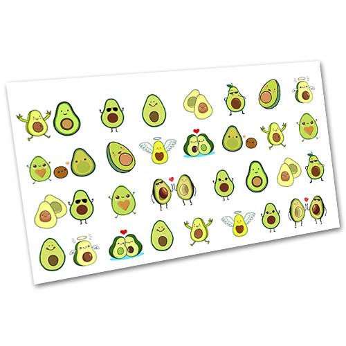 Наклейки для ногтей водные Слайдер дизайн Фрукты, овощи №2236