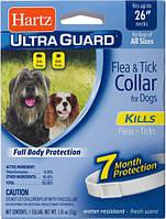 Hartz (Харц) UltraGuard Collar For Large Dogs Ошейник для больших собак от блох и клещей 7мес. 65см. белый