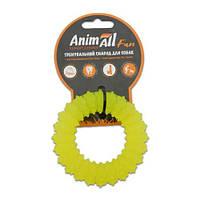 AnimAll Игрушка Fun кольцо с шипами, желтое, 9 см (88161)