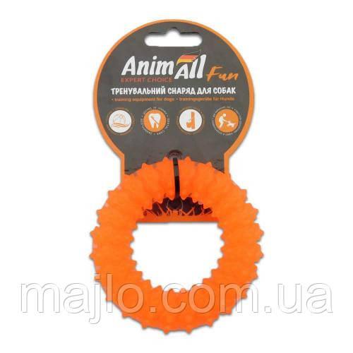AnimAll Іграшка Fun кільце з шипами, помаранчеве, 9 см (88162)