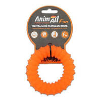 AnimAll Игрушка Fun кольцо с шипами, оранжевое, 9 см (88162)