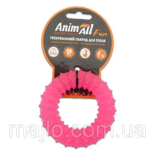 AnimAll Іграшка Fun кільце з шипами, коралове, 9 см (88163)