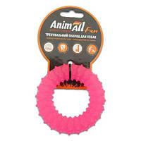AnimAll Игрушка Fun кольцо с шипами, коралловое, 9 см (88163)