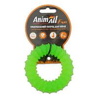 AnimAll Іграшка Fun кільце з шипами, зелений, 9 см (88165)