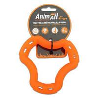 AnimAll Игрушка Fun кольцо 6 сторон, оранжевое, 12 см (88202)
