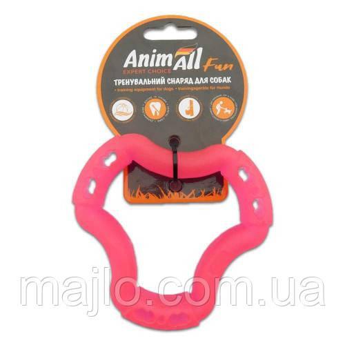 AnimAll Іграшка Fun кільце 6 сторін, коралове, 12 см (88203)