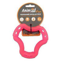 AnimAll Игрушка Fun кольцо 6 сторон, коралловое, 12 см (88203)