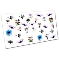 Слайдер-дизайн (водные наклейки, фотодизайн) для ногтей Цветы №2247