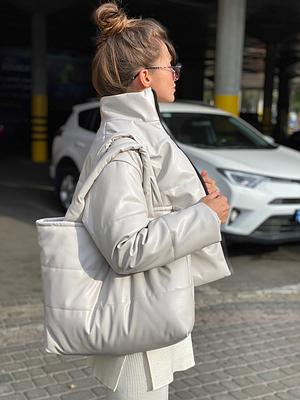 Женская модная сумка Fаrsh белый камень