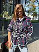 Жіноча сорочка в клітку Vintage blue, фото 8