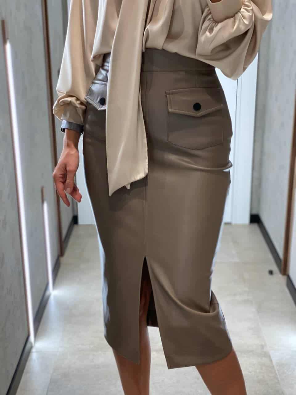 Женская юбка из эко-кожи Eva mokko
