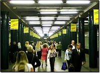 Реклама в метро (флажки на ст.м.Нивки)