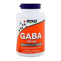 GABA (Гама-Аміномасляна Кислота) 750мг Now Foods 200 капсул