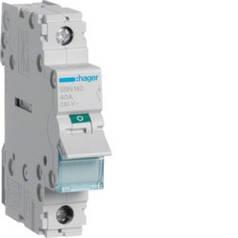 Выключатель нагрузки 1-полюсный (рубильник) 40А/230В, 1м, (Hager)