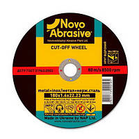 Круг отрезной по металлу NOVOABRASIVE 41 14А 115 1,6 22,23 (A 36 S BF), фото 1