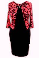Женское красивое красное платье р-48,50
