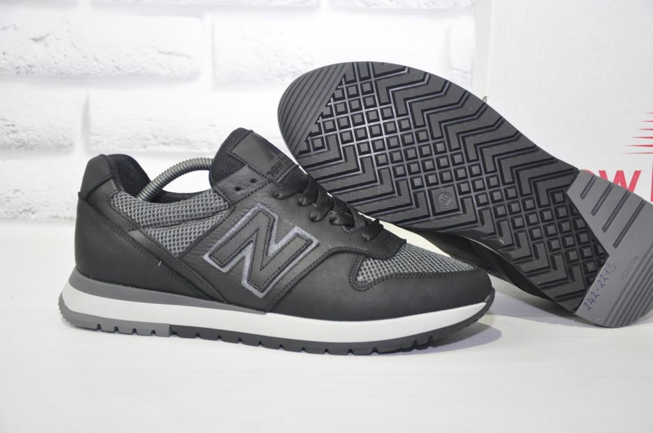 Мужские кроссовки натуральная кожа и текстиль New Balance