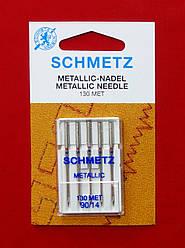 Голки для металізованих ниток до побутових машин №90 / 14 Schmetz (5 шт)