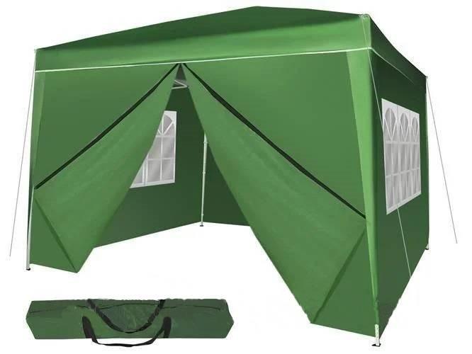 Павильон торговый 3х3м с окнами садовая палатка (Туристический шатер 4 секции быстрый монтаж)