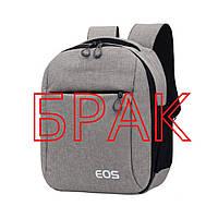 БРАК Фото рюкзак противоударный водонепроницаемый Canon EOS (Кэнон), серый ( код: IBF041S-1 ), фото 1