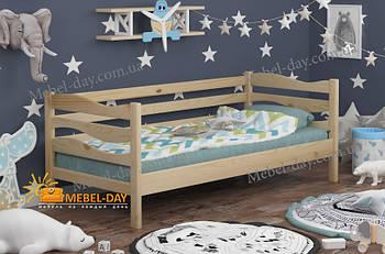 Кровать детская деревянная односпальная Волна МФ Wellmebely