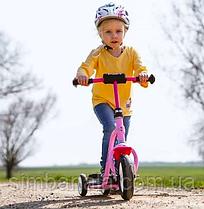 Детский розовый трехколесный самокат Puky R1, Германия