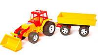 Трактор з прицепом і ковшем   (Ч )