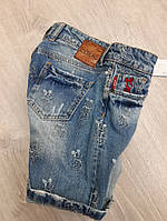 Джинсовые шорты на девочку с мультяшной вышивкой микки, фото 1