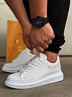 Кроссовки мужские, Adidas Alexander McQueen white. Повседневная обувь