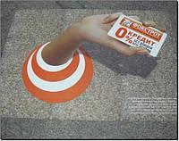 Реклама в метро (напольная графика)